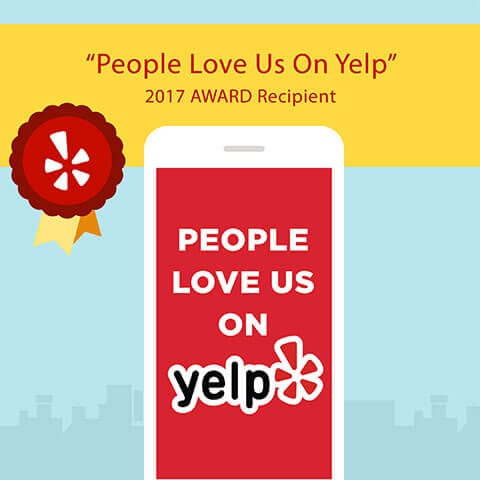 """People Love Us On Yelp"" 2017 Award"